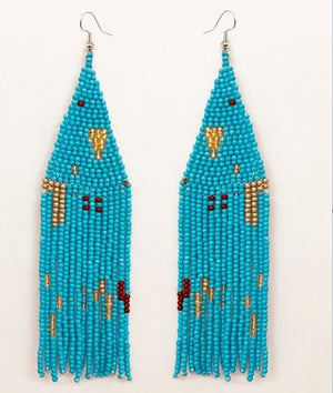 LOLITA SEEDBEAD EARRING- Blue