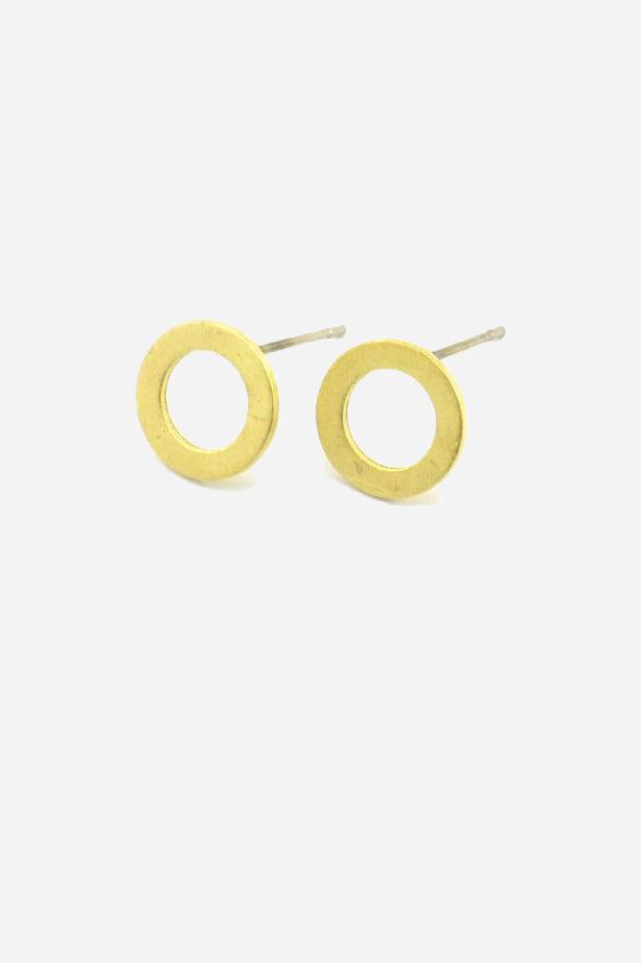 GEO CIRCLE STUD EARRING