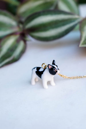 CERAMIC BOSTON TERRIER NECKLACE