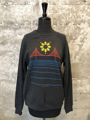 FILIPINX BRIDGE CREWNECK - charcoal