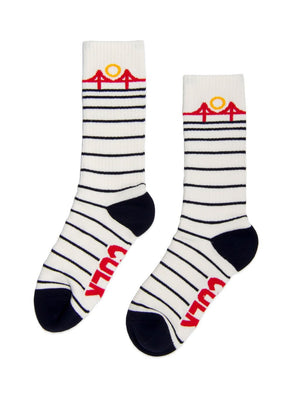 MINIMAL BRIDGE SOCK - white