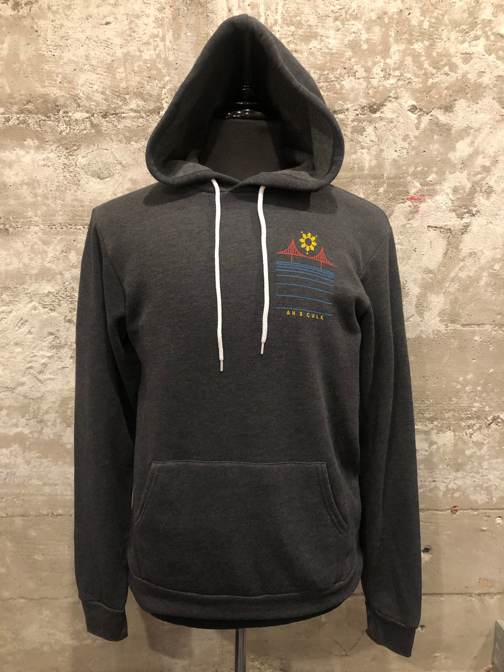 FILIPINX BRIDGE HOODIE - AH EXCLUSIVE (Pull-over Hoodie) - charcoal grey