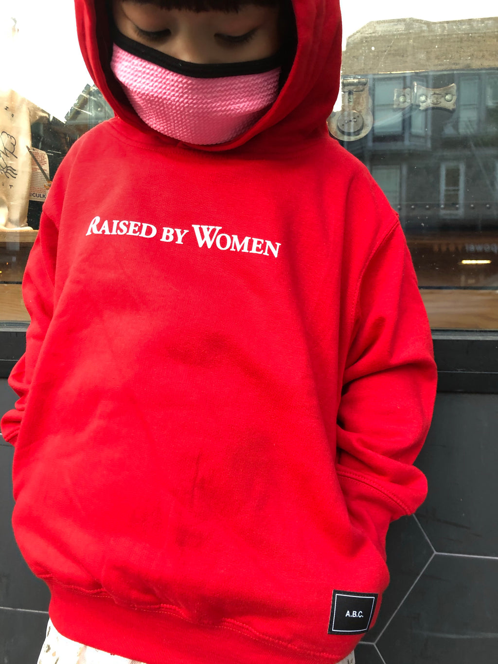 RAISED BY WOMEN HOODIE