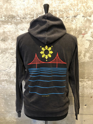 FILIPINX BRIDGE HOODIE - Mineral Wash