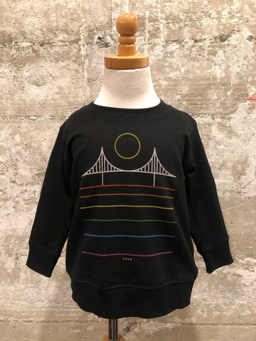 MINIMAL BRIDGE TODDLER CREWNECK - rainbow
