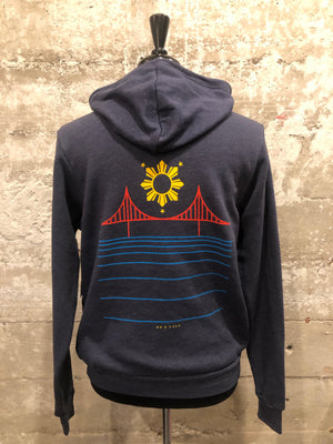 FILIPINX BRIDGE HOODIE - navy