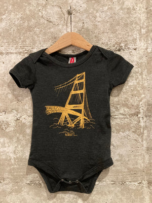 GOLDEN GATE BRIDGE SKETCH ONESIE