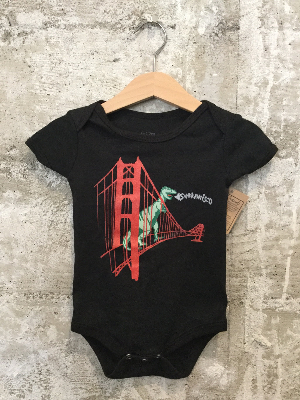 GG BRIDGE DINO ONESIE- Black