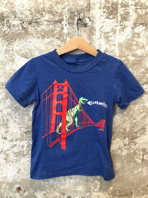 GG BRIDGE DINO TODDLER TEE- BLUE