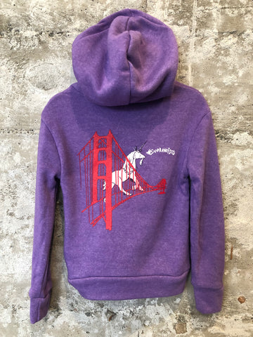 GOLDEN GATE BRIDGE UNICORN HOODIE