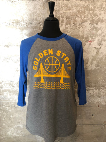 GOLDEN STATE WARRIORS RAGLAN