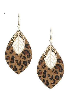 LEOPARD AND GOLD EARRING