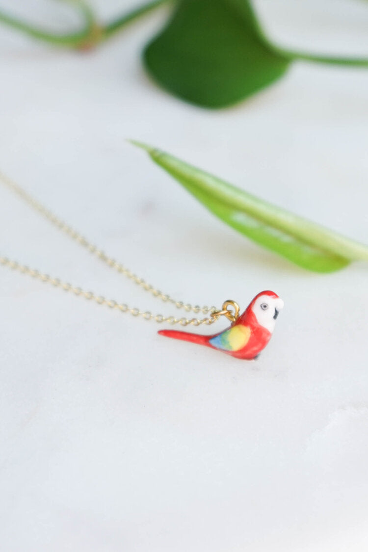 CERAMIC PARROT NECKLACE
