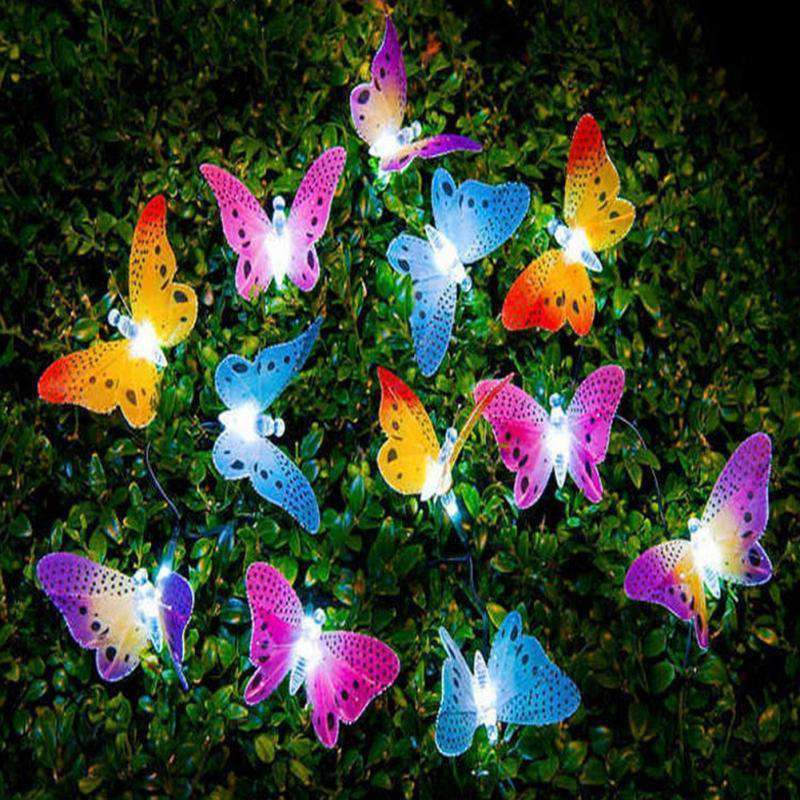 Butterfly Fiber Optic LED Decorative Lights 12 Pcs - Rising Vegans