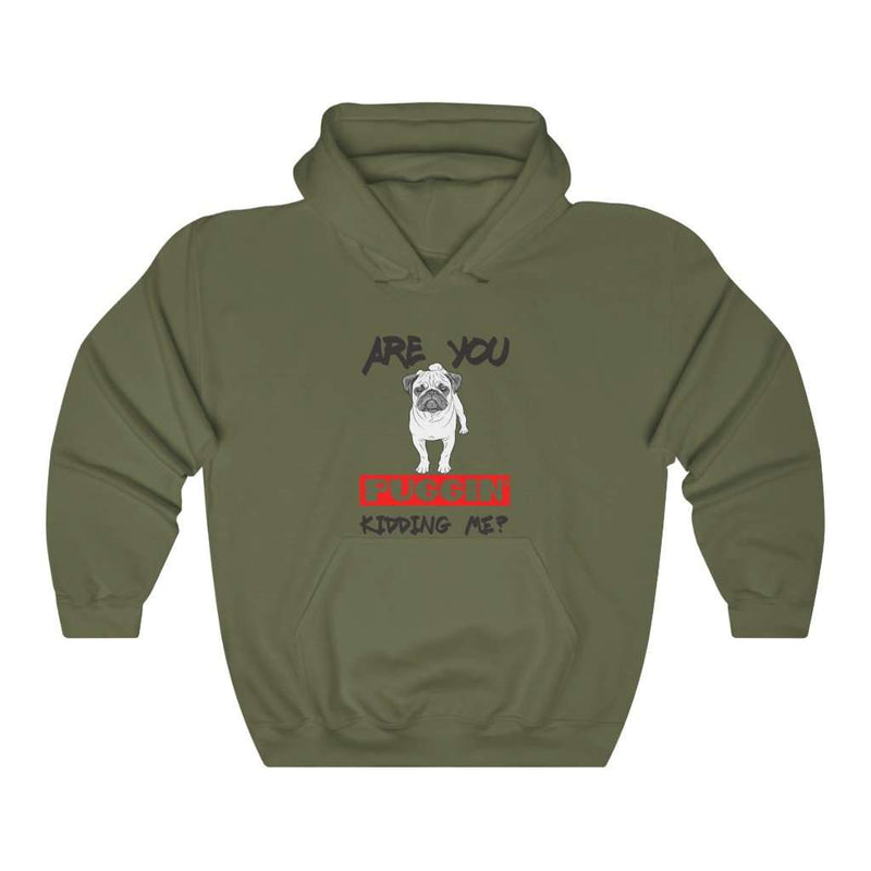 Are You Puggin' Kidding Me  Hoodie - Rising Vegans