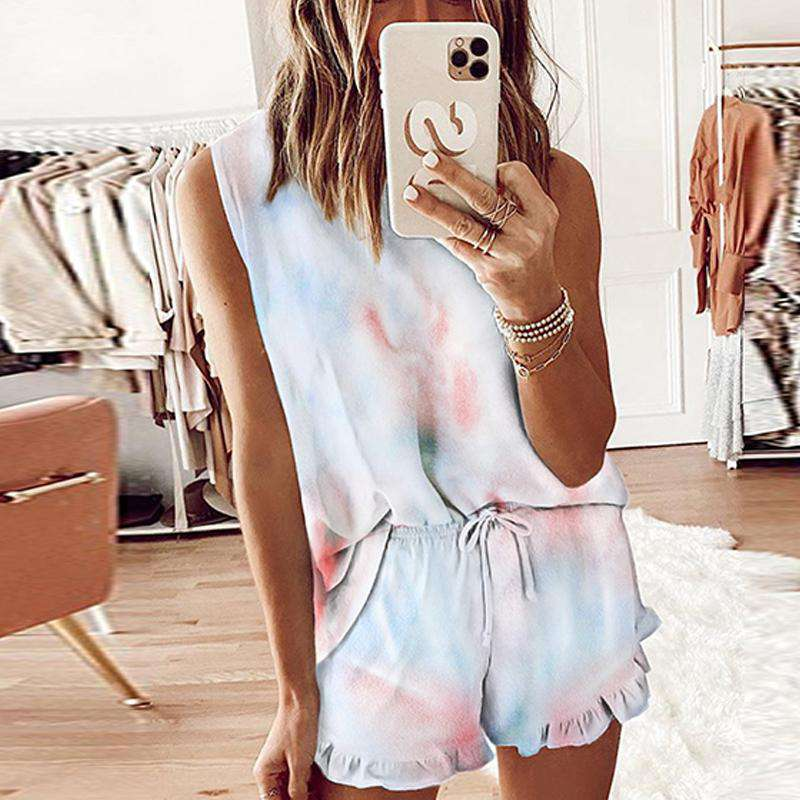Sleeveless Tie-dye Short Set - Rising Vegans
