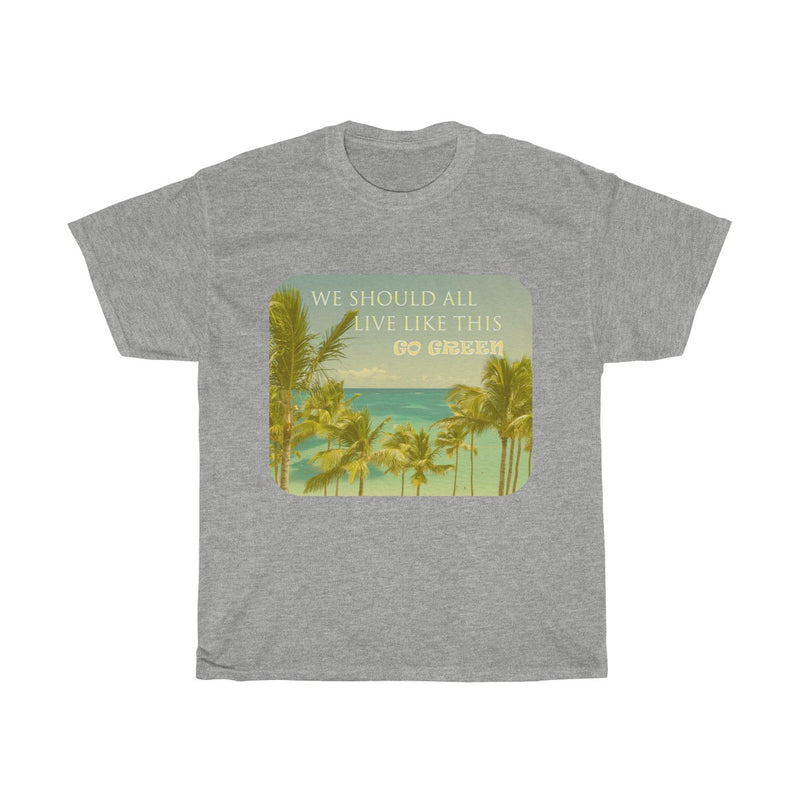 Men's Live Green Cotton Tee - Rising Vegans
