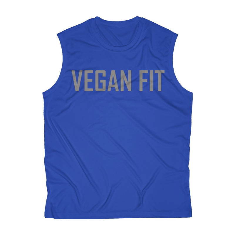 Grey Vegan Fit Men's Sleeveless Performance Tee - Rising Vegans