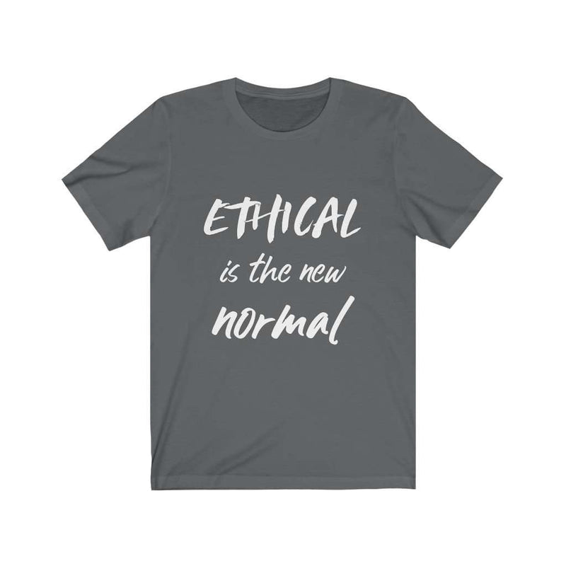Ethical Is The New Normal Men's Cotton T-Shirt - Rising Vegans