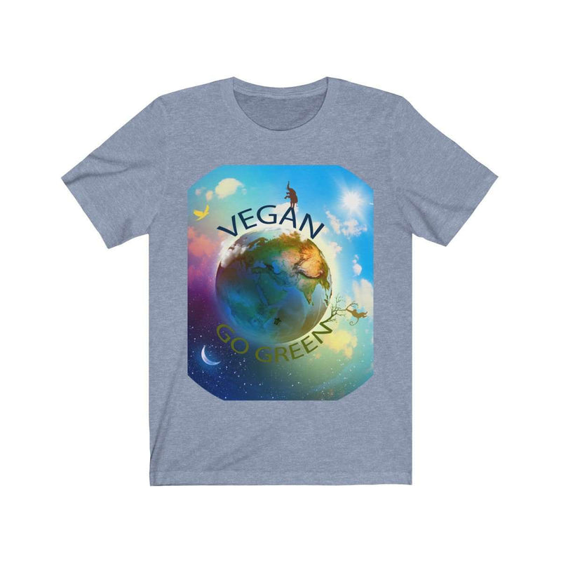 Women's Vegan World Jersey Tee - Rising Vegans