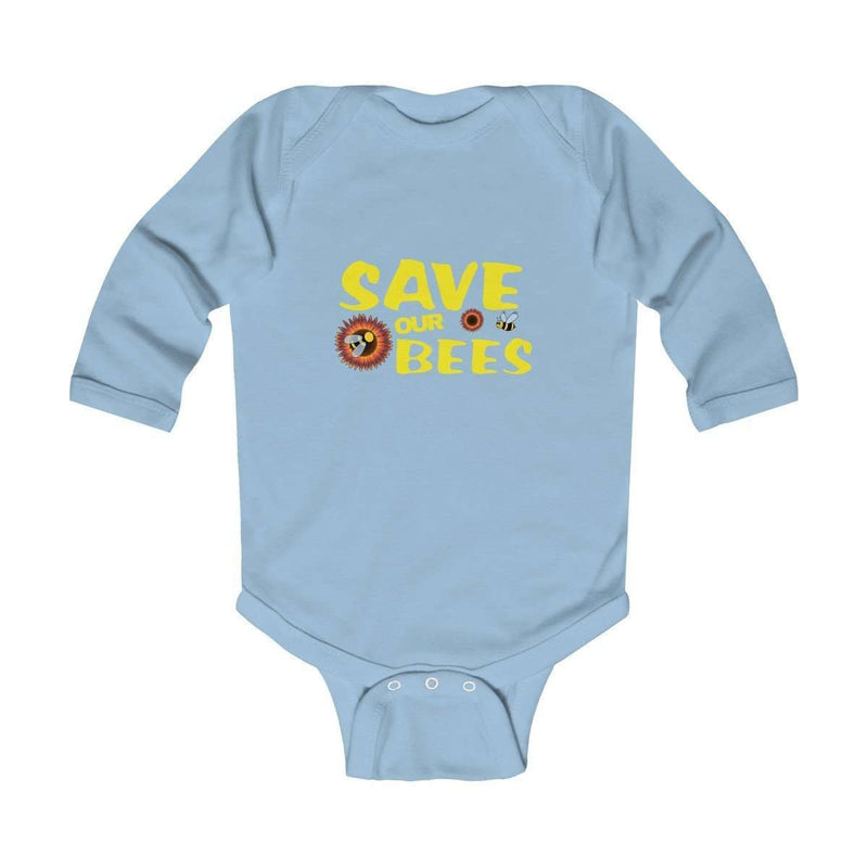 Save Our Bees Infant Long Sleeve Bodysuit - Rising Vegans