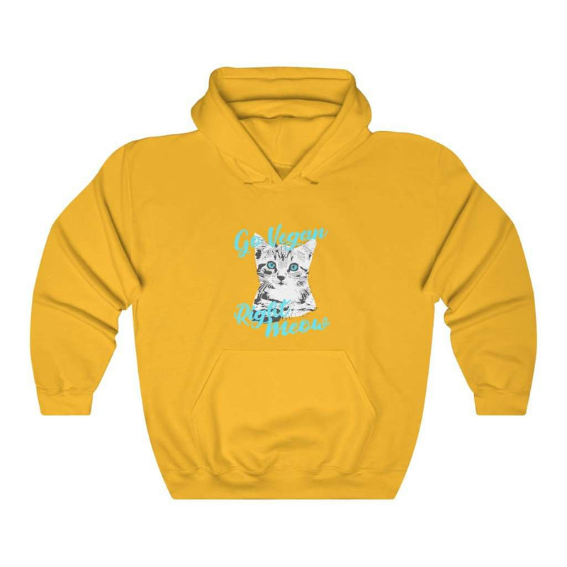 Go Vegan Right Meow Hoodie - Rising Vegans