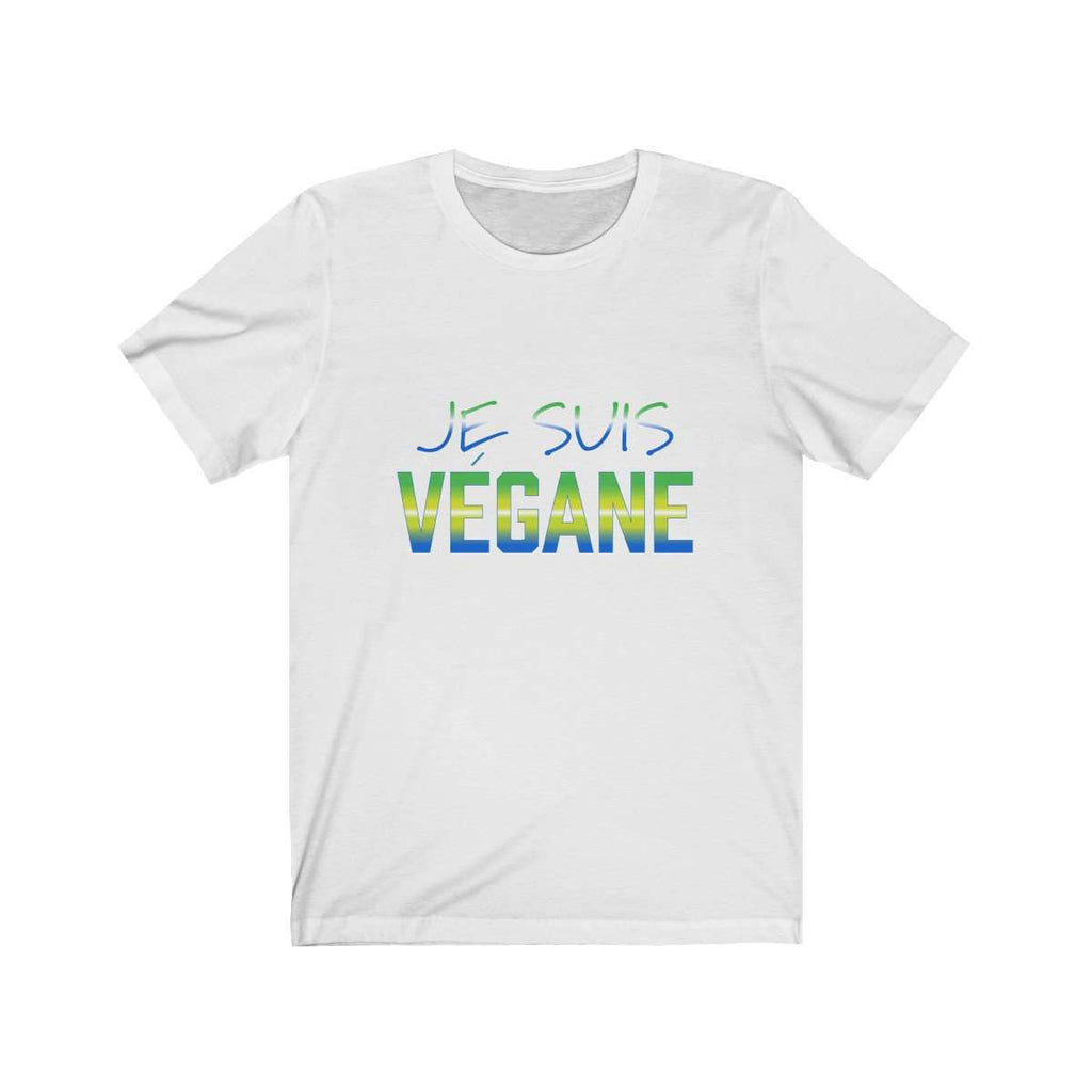 JE SUIS VEGANE Regular Fit Jersey Short Sleeve Tee - Rising Vegans