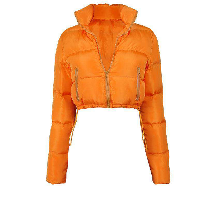 Cotton Filled Puffer Crop Jacket - Rising Vegans