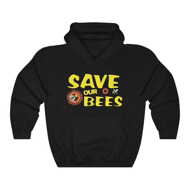 Save Our Bees Hooded Sweatshirt - Rising Vegans