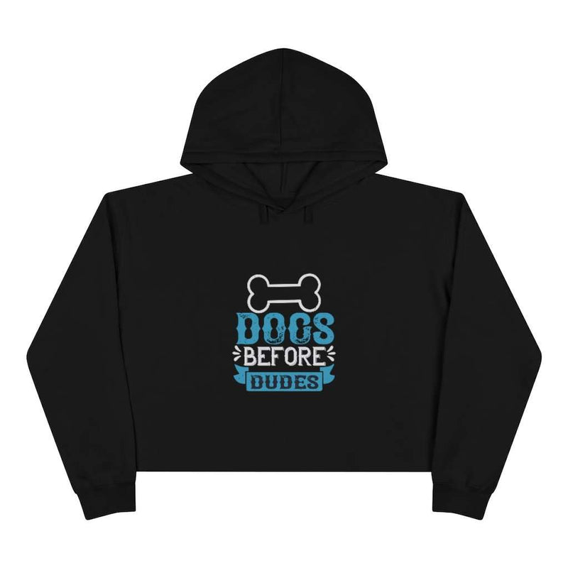 Dogs Before Dudes Crop Hoodie - Rising Vegans