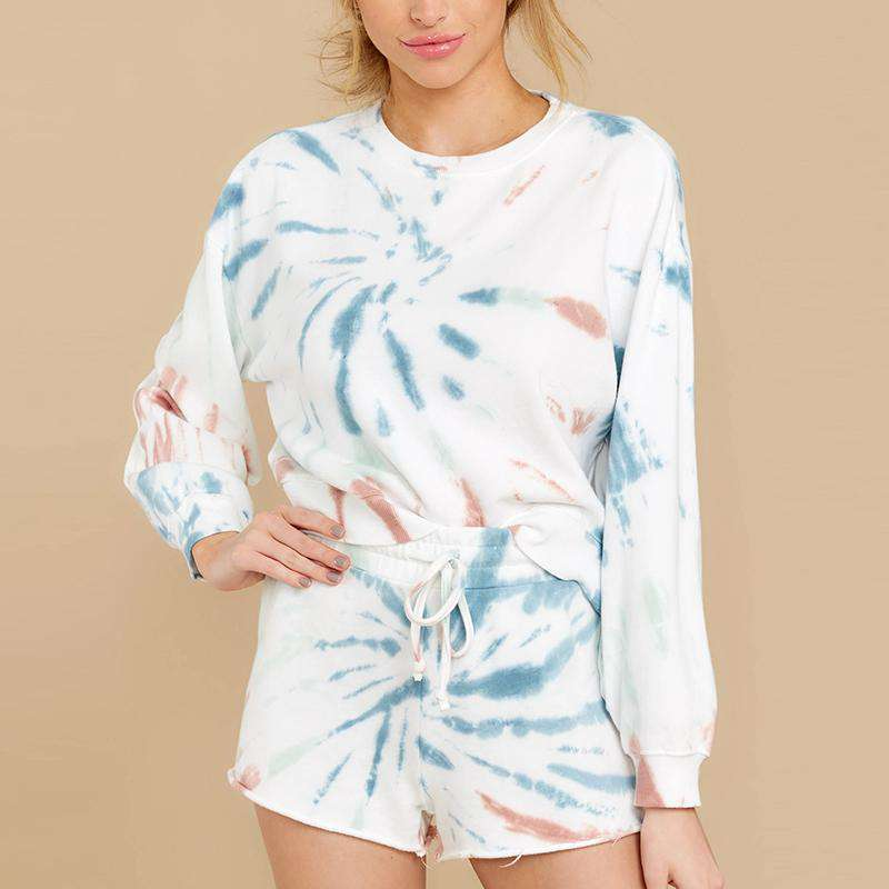 Psychedelic Long Sleeve Short Set - Rising Vegans