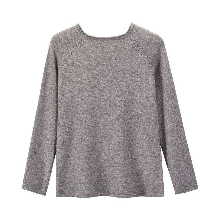 Long Sleeve O-Neck Knit Sweater - Rising Vegans