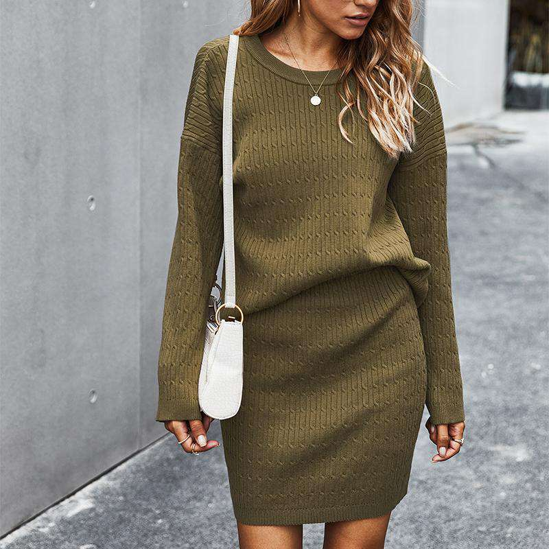 Cable Knit Sweater Skirt Set - Rising Vegans
