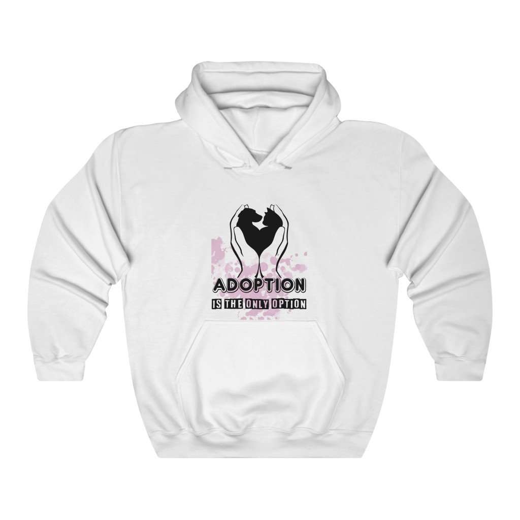Adoption Is The Only Option Hoodie - Rising Vegans