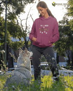 All I Need Is Dog Love Hooded Sweatshirt - Rising Vegans
