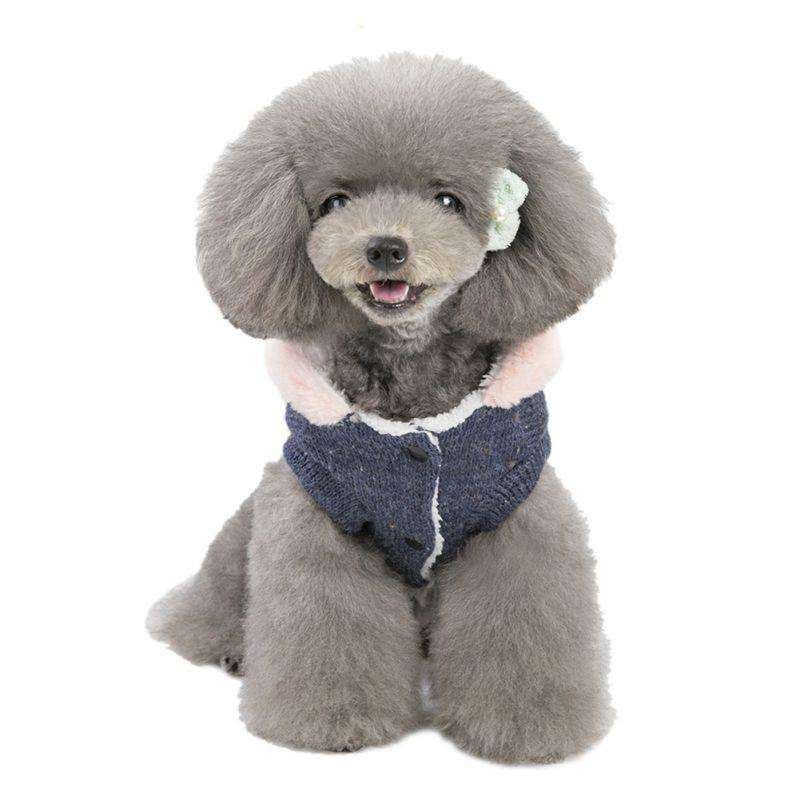 Cotton Plush Lined Hoodie Dog Sweater - Rising Vegans