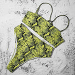 Bandeau High Waisted Brazilian Bikini - Rising Vegans