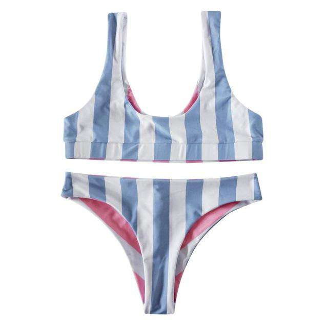 Reversible Hampton Stripe Bikini - Rising Vegans