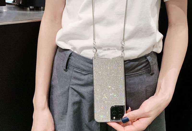 Rhinestone iPhone Case Lanyard - Rising Vegans