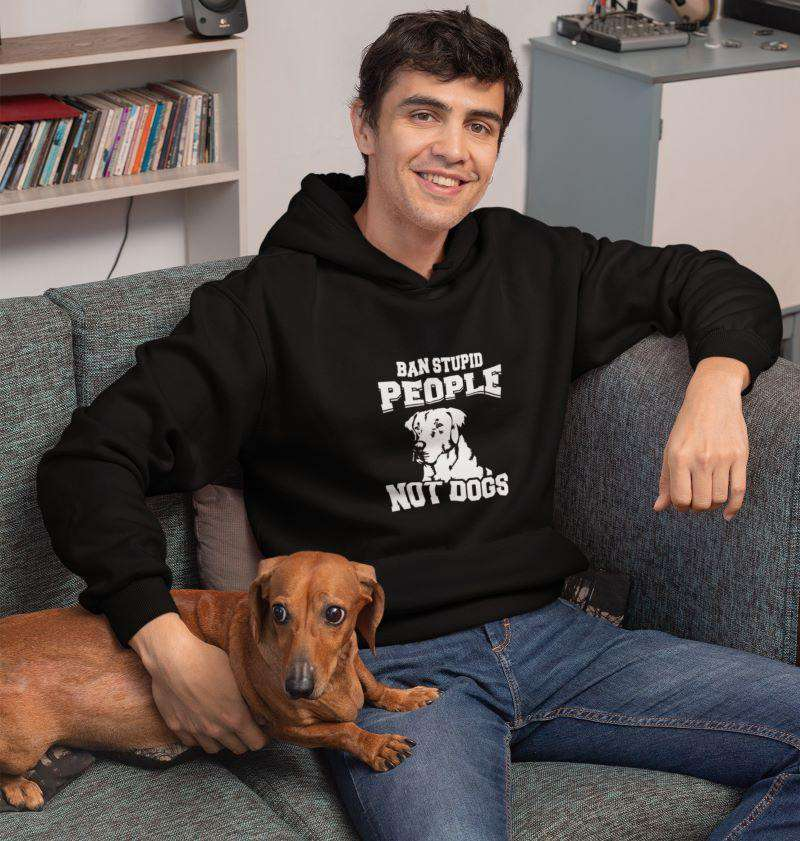 Men's Ban Stupid People - Not Dogs Hoodie - Rising Vegans