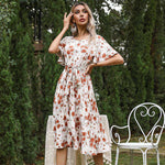 Primrose Midi Tea Dress - Rising Vegans