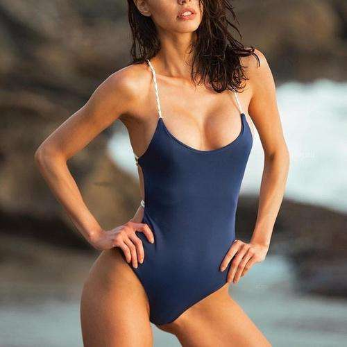 Crisscross Open Back One Piece Swimsuit - Rising Vegans