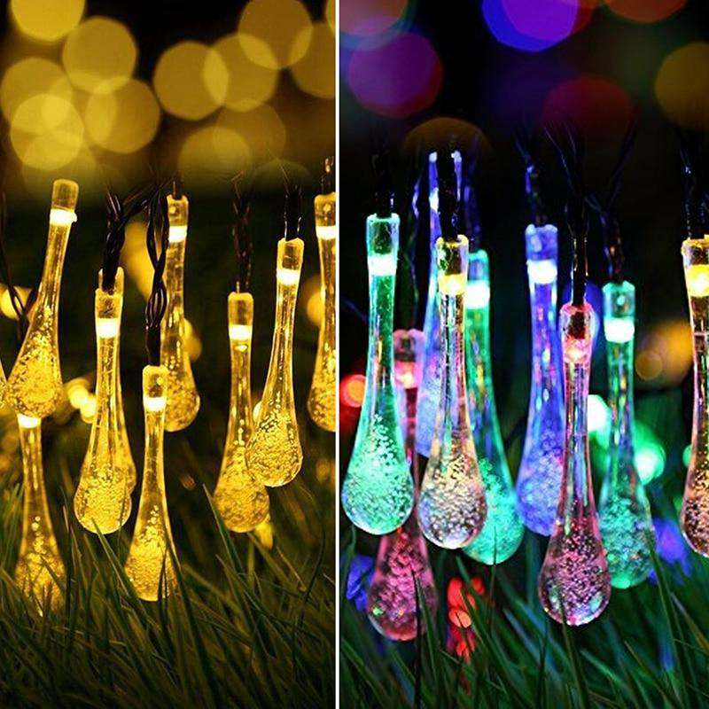 Raindrop LED Solar String Lights - Rising Vegans
