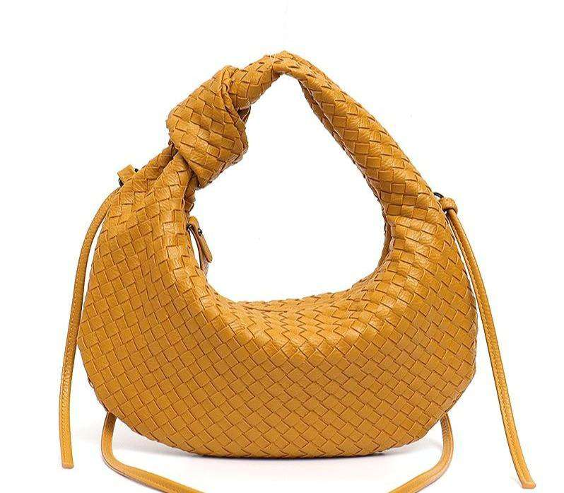 Woven Vegan Leather Knotted Hobo Bag - Rising Vegans