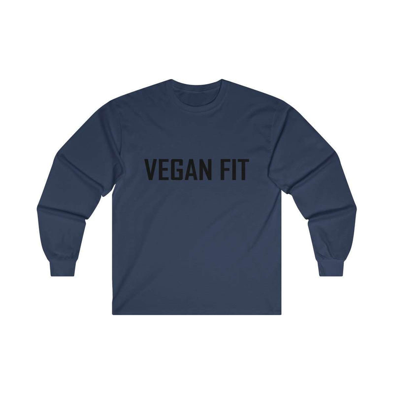 Men's Vegan Fit Ultra Cotton Long Sleeve Tee - Rising Vegans