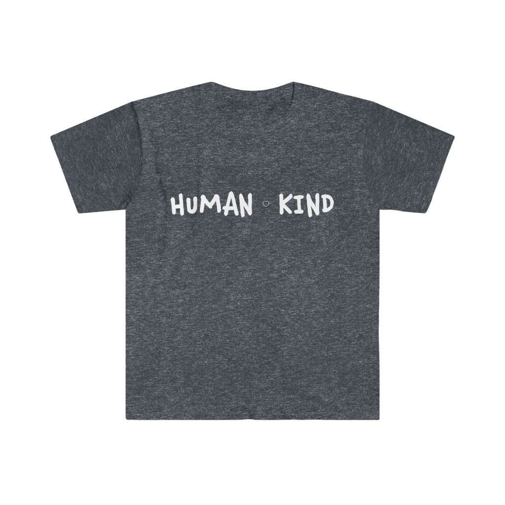 Men's Human Kind Fitted Cotton Tee - Rising Vegans