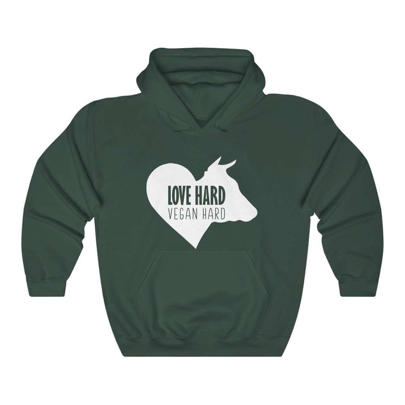 Love Hard Vegan Hard Hoodie - Rising Vegans