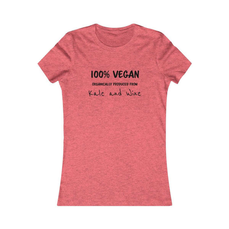Kale and Wine Fitted Soft Tee - Rising Vegans