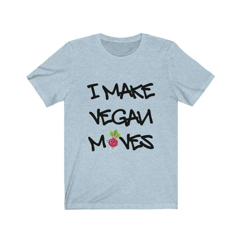Men's I Make Vegan Moves Cotton T-Shirt - Rising Vegans