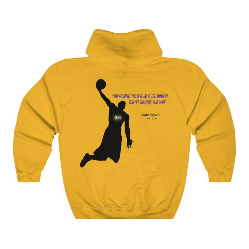 Kobe Don't Give Up Back Print Heavy Hoodie - Rising Vegans